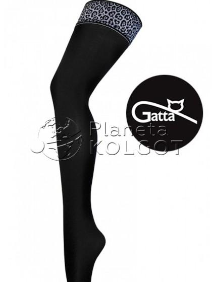Gatta Gigi 06 женские классические чулки из микрофибры с принтом