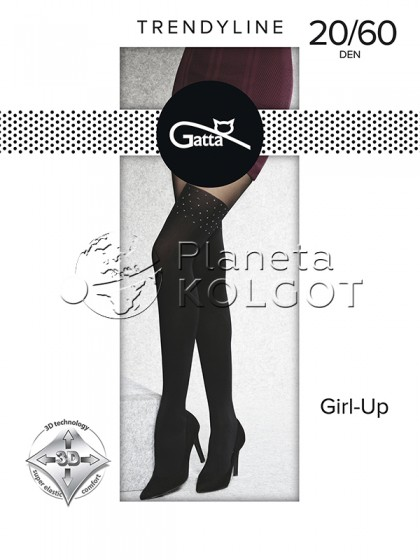 Gatta Girl-Up 34 женские фантазийные колготки с имитацией ботфортов