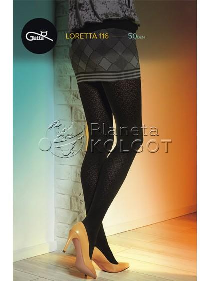 Gatta Loretta 116 женские колготки из микрофибры с фантазийным рисунком