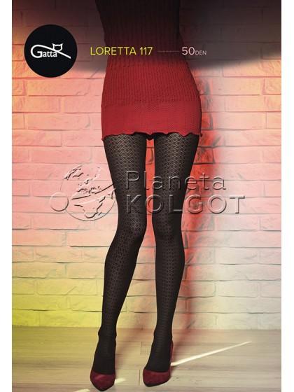 Gatta Loretta 117 женские фантазийные колготки с рисунком
