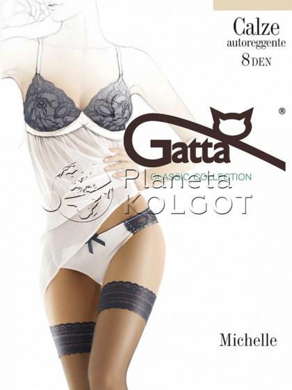 Gatta Michelle 04 Calze Autoreggente 8 Den женские тончайшие классические летние чулки