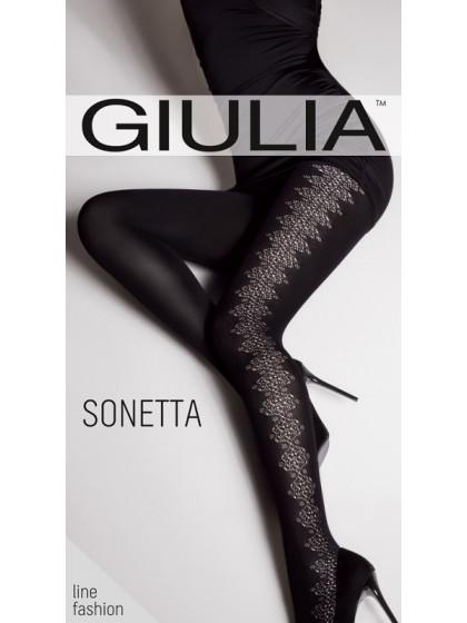 Giulia Sonetta 100 Den Model 9 фантазийные теплые колготки с рисунком