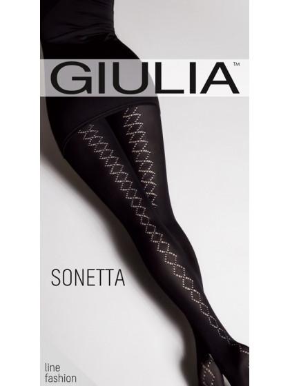 Giulia Sonetta 100 Den Model 12 теплые колготки с фантазийным рисунком