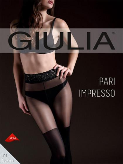 Giulia Pari Impresso колготки с имитацией чулок