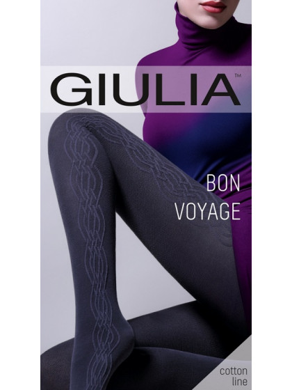 Giulia Bon Voyage 200 Den Model 3 колготки из хлопка с рисунком