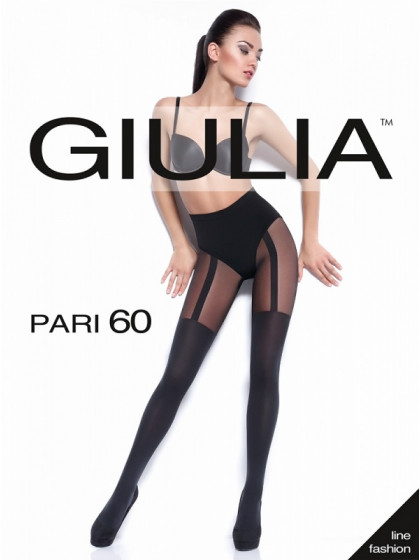 Giulia Pari 60 Den Model 18 женские колготки с имитацией чулок