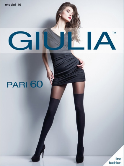 Giulia Pari 60 Den Model 16 женские колготки с имитацией чулок