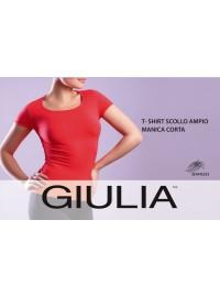 Giulia T-Shirt Scollo Ampio Manica Corta