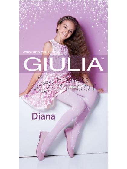 Giulia Diana Model 4 детские теплые колготки с рисунком и люрексом