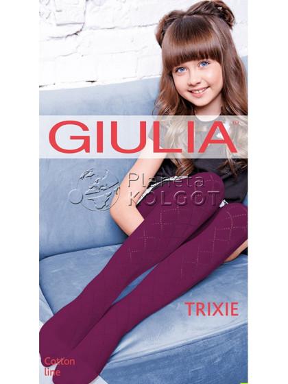 """Giulia Trixie 150 Den Model 1 детские хлопковые колготки с рисунком """"ромбы"""""""