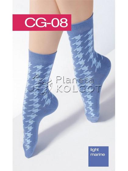 Giulia CG-08 высокие хлопковые носки с рисунком