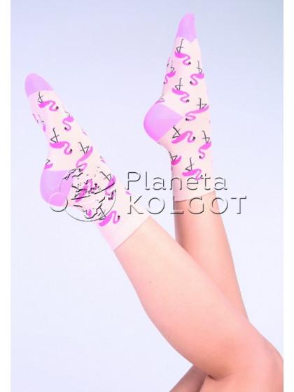 Giulia WS-03 хлопковые носки с фантазийным принтом