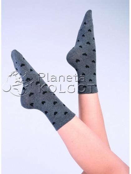 """Giulia WS-10 хлопковые носки с узором """"сердечки"""""""