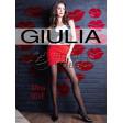 "Giulia Afina LOVE 40 Den Model 2 женские колготки средней плотности с фантазийным рисунком ""сердечки"""