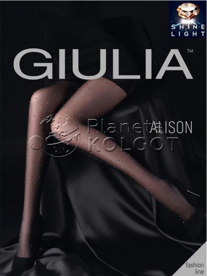 Giulia Alison 20 Den Model 1 женские тонкие колготки с люрексом и узором