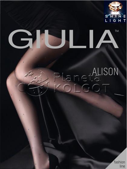"""Giulia Alison 20 Den Model 2 женские фантазийные колготки с узором """"в точку"""""""