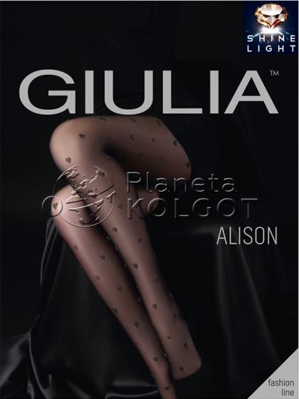 Giulia Alison 20 Den Model 4 фантазийные колготки с узором и люрексом