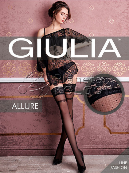 Giulia Allure 20 Den Model 18 женские фантазийные чулки с узором