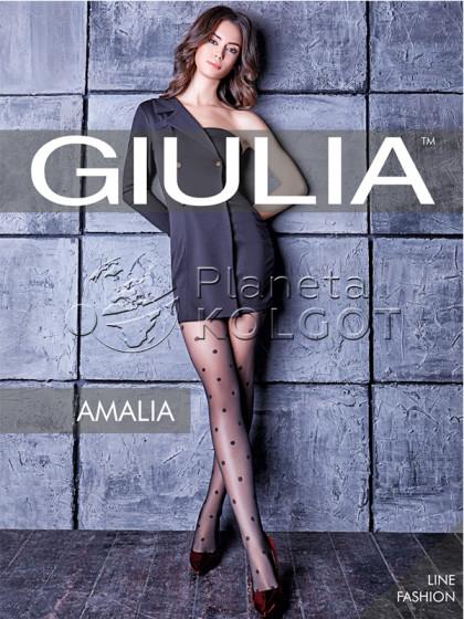 Giulia Amalia 20 Den Model 6 фантазийные колготки с узором в мелкий горошек