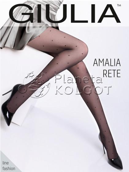 Giulia Amalia Rete 40 Den Model 1 микросетчатые колготки с рисунком в точку