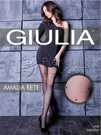 Giulia Amalia Rete 40 Den Model 2 колготки на сетчатой основе с узором в крупную точку