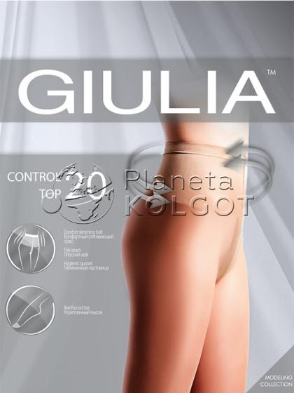 Giulia Control Top 20 Den женские тонкие моделирующие колготки