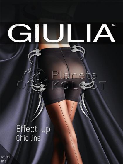 Giulia Effect Up Chic Line 20 Den женские фантазийные колготки с имитацией шва сзади