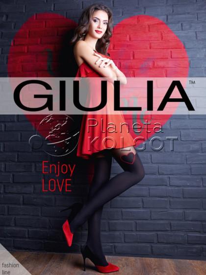 Giulia Enjoy Love 60 Den женские колготки из микрофибры с имитацией ботфортов