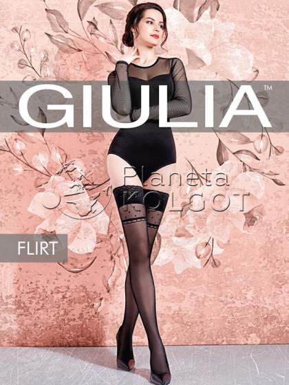 """Giulia Flirt 20 Den Model 1 женские тонкие чулки с узором """"в горошек"""""""