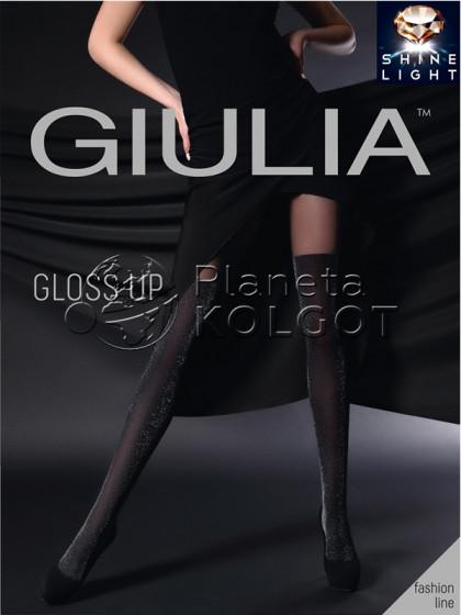 Giulia Gloss Up 60 Den Model 2 женские колготки с имитацией ботфортов