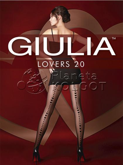 Giulia Lovers 20 Den Model 13 женские колготки с имитацией шва сзади