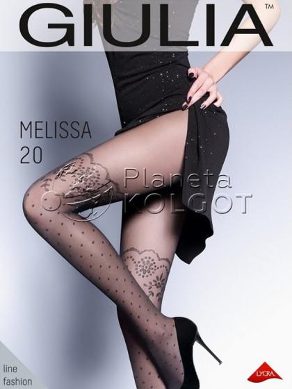 Giulia Melissa 20 Den Model 1 тонкие колготки с имитацией чулок