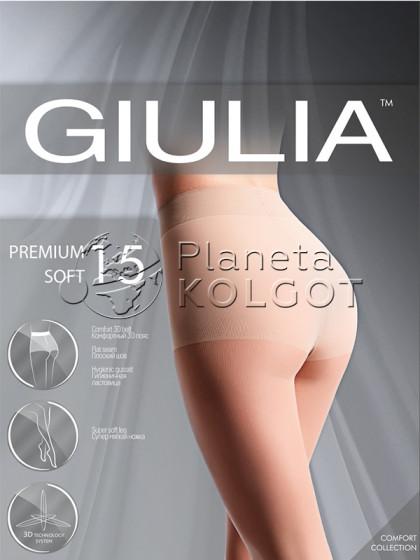 Giulia Premium Soft 15 Den тончайшие колготки с уплотненными шортиками