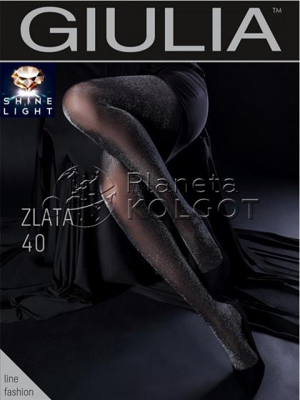 Giulia Zlata 40 Den женские фантазийные колготки с люрексом