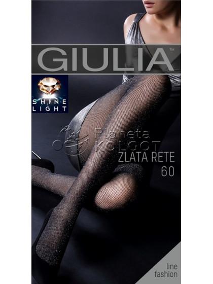 Giulia Zlata Rete 60 Den сетчатые фантазийные колготки с люрексом