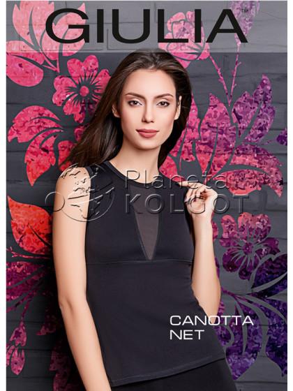 Giulia Canotta Net Model 2 женская спортивная майка со вставками из микротюля