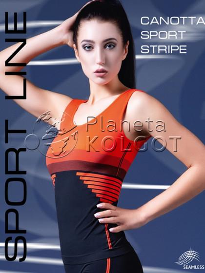 Giulia Canotta Sport Stripe Model 1 женская спортивная майка