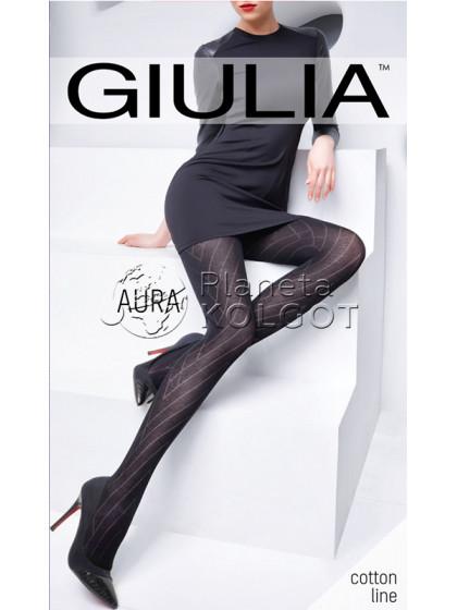 Giulia Aura 120 Den Model 1 хлопковые колготки с геометрическим узором