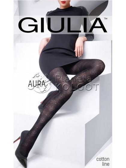 Giulia Aura 120 Den Model 3 хлопковые колготки с цветочным узором