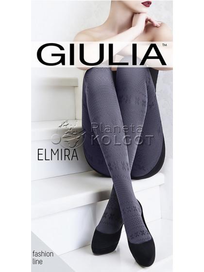 Giulia Elmira 100 Den Model 11 фантазийные теплые женские колготки со скандинавским рисунком