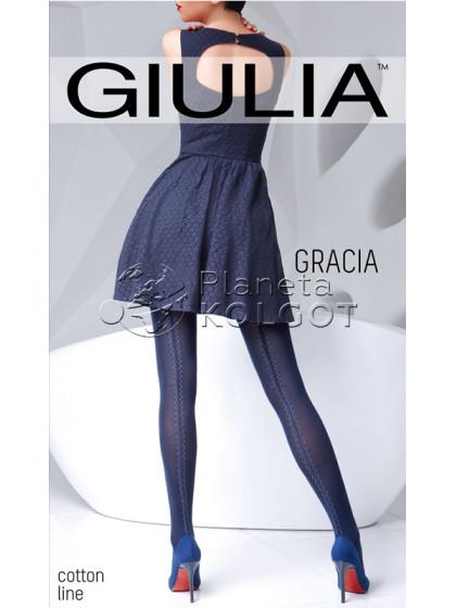 Giulia Gracia 150 Den Model 2 теплые колготки с имитацией шва сзади
