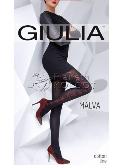 Giulia Malva 150 Den Model 1 теплые колготки с рисунком