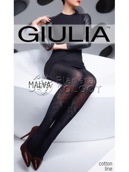 Giulia Malva 150 Den Model 3 теплые колготки с рисунком