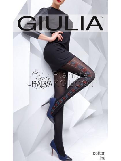 Giulia Malva 150 Den Model 5 женские фантазийные колготки с рисунком