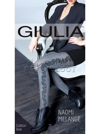 Giulia Naomi Melange 150 Den Model 2 женские фантазийные меланжевые колготки с боковым рисунком