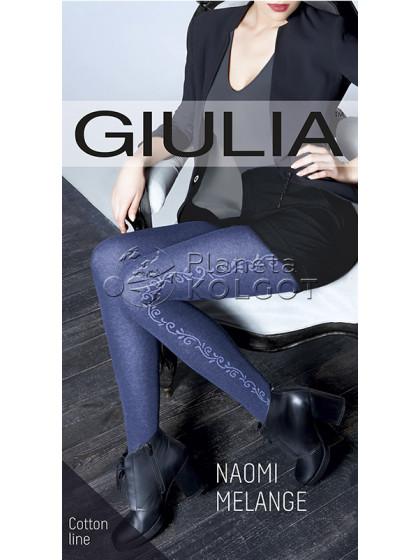 Giulia Naomi Melange 150 Den Model 3 женские фантазийные колготки из хлопком с эффектом меланж и боковым рисунком