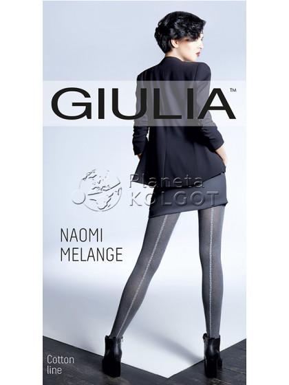 Giulia Naomi Melange 150 Den Model 4 женские зимние фантазийные колготки с имитацией шва сзади