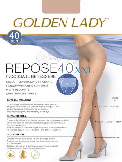 Golden Lady Repose 40 Den XXL женские поддерживающие колготки большого размера