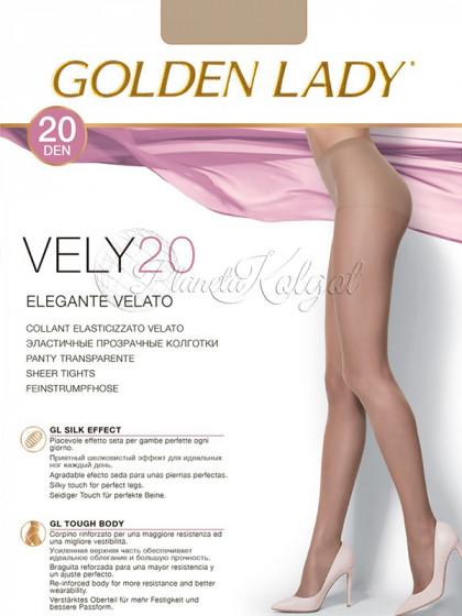 Golden Lady Vely 20 Den женские тонкие прозрачные классические колготки