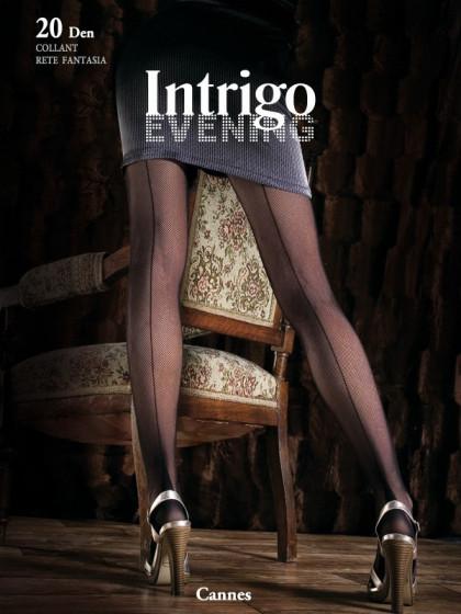 Intrigo Cannes 20 Den сетчатые колготки с имитацией шва сзади